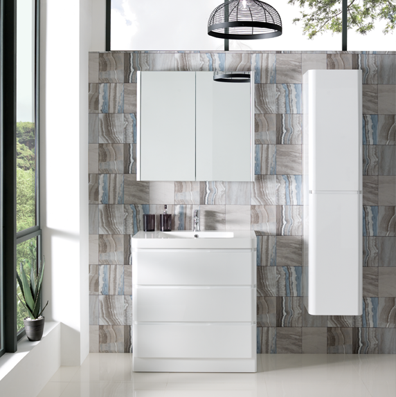 Aurora Floor Standing 800mm Cabinet & Basin1