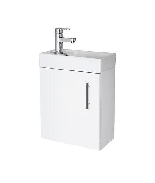 Minimalist 400mm Wall Hung Cabinet & Basin