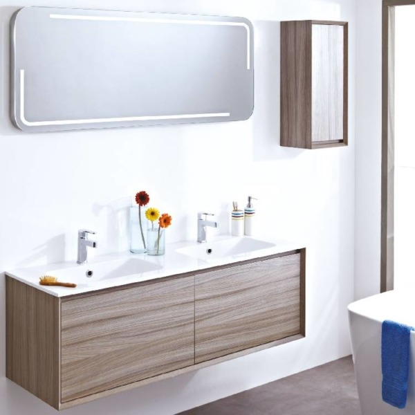Enzo 1200 Wall Mounted Unit & Solid Surface Basin